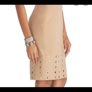 WHBM Lined Grommet and Stud Skirt. Sz. 10